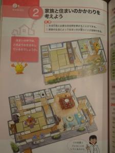 中2家庭科教科書より トイレが様式に…