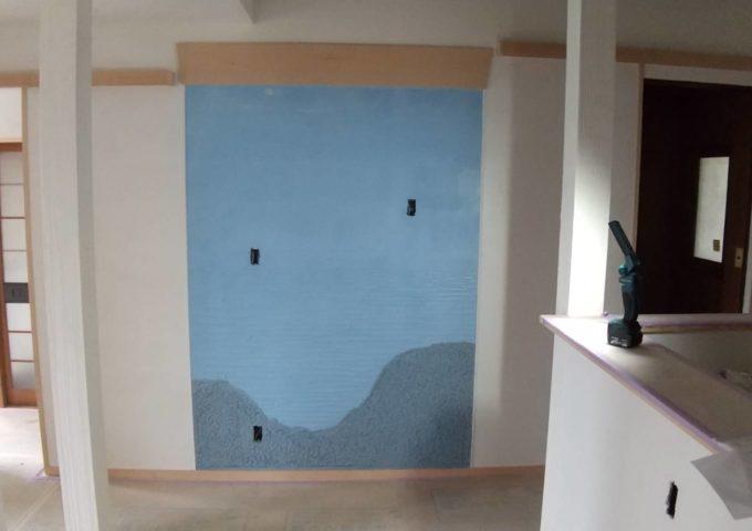 アクセント漆喰壁