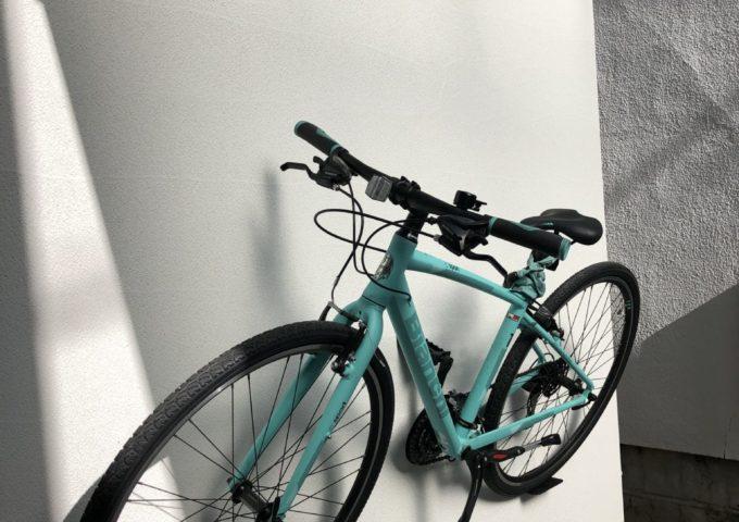 壁掛け自転車