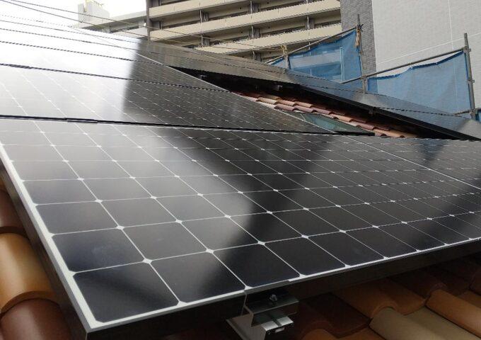 太陽光発電用パネルの施工